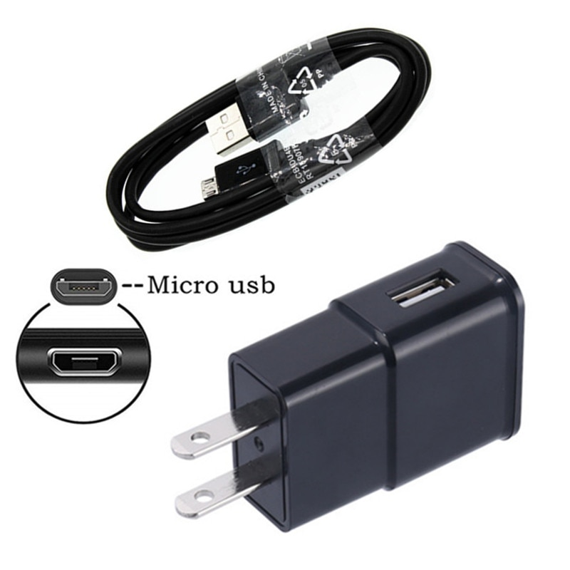 Для Samsung A7 2018 HTC One M7 E8 M9 E9 + ZTE Blade V9 V7 V8 lite Android телефон настенный разъем USB зарядное устройство адаптер + Micro usb кабель
