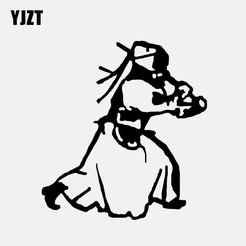 Yjzt 11.3*12.1 cm espadachim interessante kendo decoração do carro adesivo de vinil silhueta C12 1444 Adesivos para carro    -