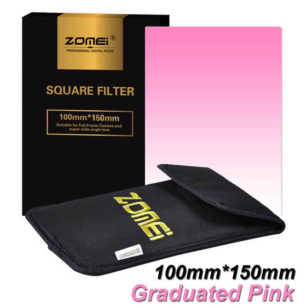 Nova Zomei Graduado Filtro Quadrado 100mm x 150mm Profissional Rosa 100mm * 150mm 100x150mm para Cokin Série Z-PRO Titular Lee