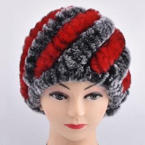 Women Winter Fur Hats Warm Natural Rex Rabbit Fur Beanie Wholesale Retail Winter Rabbit Fur Hats For Women