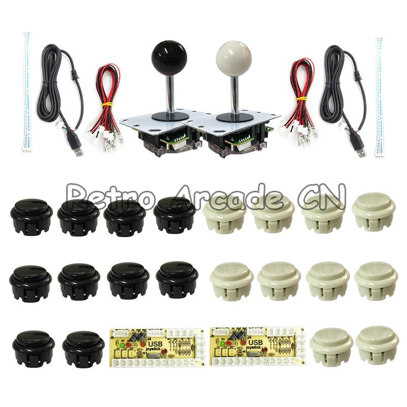 Arcade Game Machine DIY Kits USB Encoder Controller PC Joystick With 20 Push Button + Joystick + Cable Arcade Joystick Kit