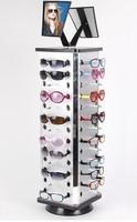 אלומיניום פלסטיק לוח משקפיים משקפי שמש תצוגה מחזיק Rack Stand Turnable כל מרחק 0.5 0.6 cm עם מראה 2 סטים