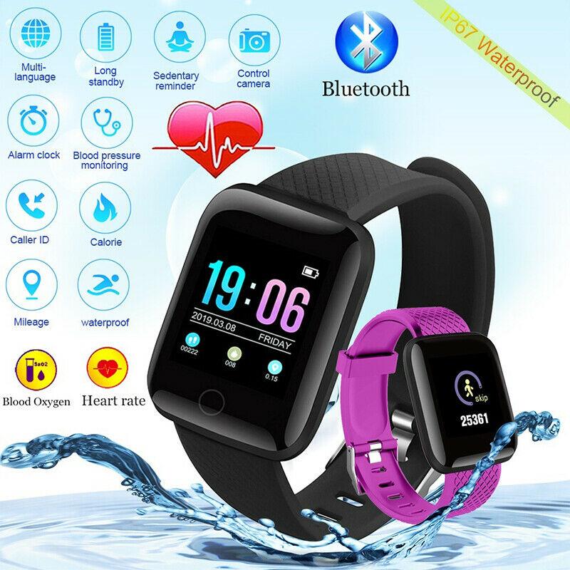 Новые умные мужские и женские часы ID116Plus, мониторинг сердечного ритма, сна, шагомер, IP67, водонепроницаемые часы для Android IOS