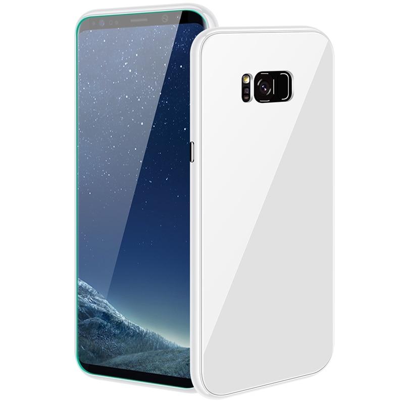 Funda magnética de lujo para Samsung Galaxy Note 8 9 S7 S7E S8 S9 plus PC borde carcasa trasera de vidrio templado