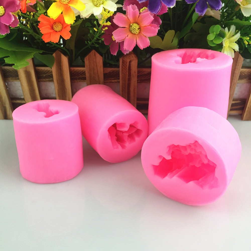 1 Pcs Mold Four Kinds of Coral Sugar Crystal Silicone Mold Crystal Iceberg Silicone Mold Send with Random Color