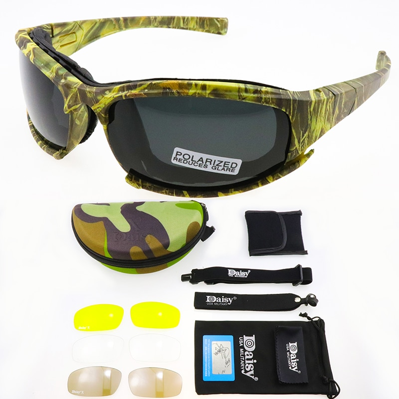 X7 Polarized Tactical Goggles Photochromic Men Army Sunglasses Military Shooting Glasses Hiking Eyew