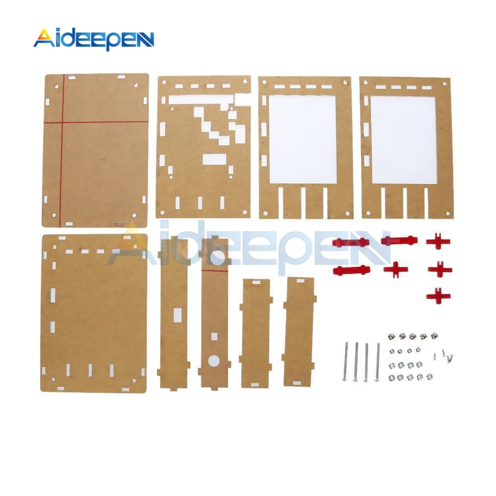 DIY Kit Acryl Fall Abdeckung Schutz Shell für Arduino DSO138 Oszilloskop Transparent Acryl Abdeckung Oszilloskop Zubehör