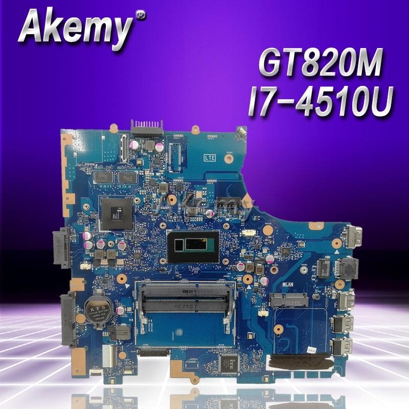 Akemy PU551LD материнская плата для ноутбука ASUS PRO551L PU551LD PU551LA PU551L P551L материнская плата Тест ok REV2.0 I7-4510U GT820M