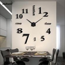 2020 Super Big DIY Wall Clock Acrylic Metal Mirror Super Big Personalized Digital Watches Clocks Freeshipping 130cm x 130 cm