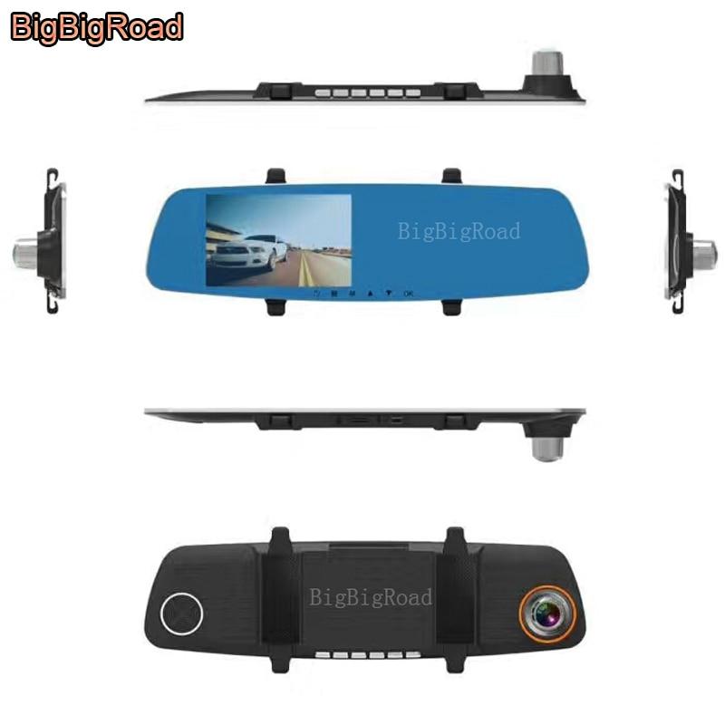 BigBigRoad para geely emgrand 7 lc vision sc7 coche DVR pantalla azul cámara de vídeo para espejo retrovisor coche Cámara Dual