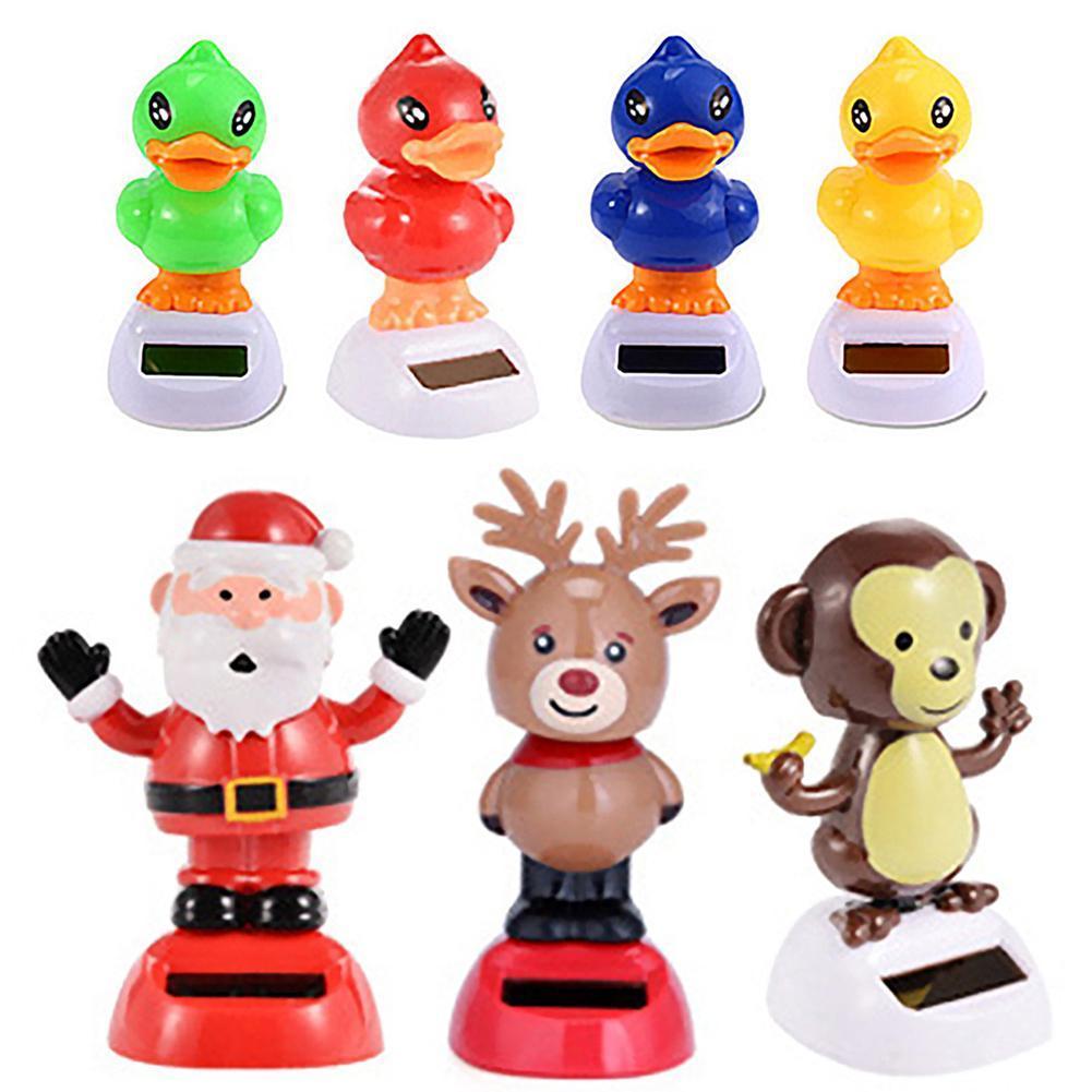 Чудесная танцевальная игрушка на солнечных батареях с изображением обезьяны, кошки, панды, животных, для папы, рождественского подарка