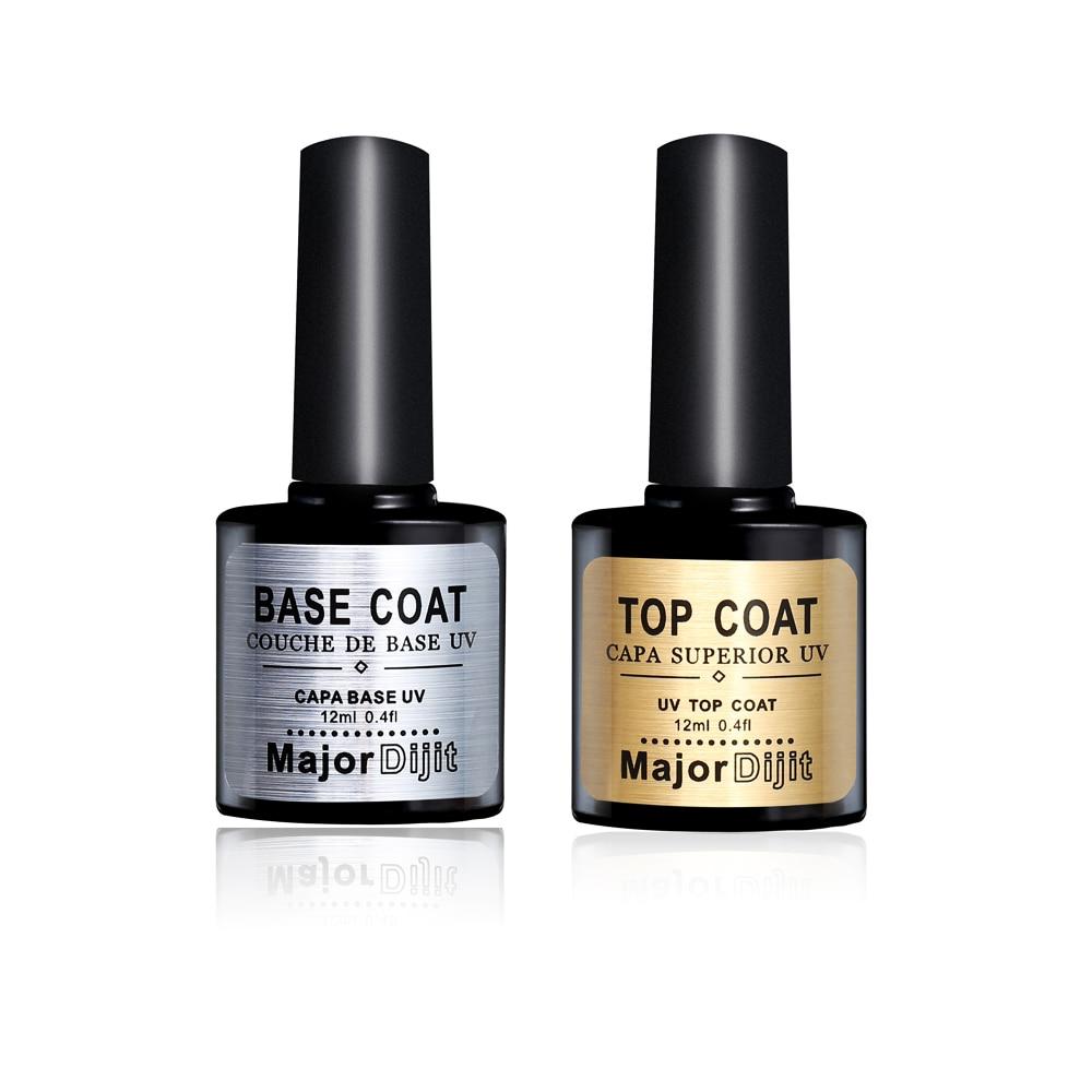 12ML New Nail Gel Polish Soak Off UV Top Coat + Base Long-lasting Lacquer