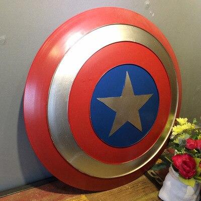 47cm película de los Vengadores de alta calidad Capitán América escudo Rogers Bar decorar Metal Shield Cosplay Halloween Prop/regalo supeman