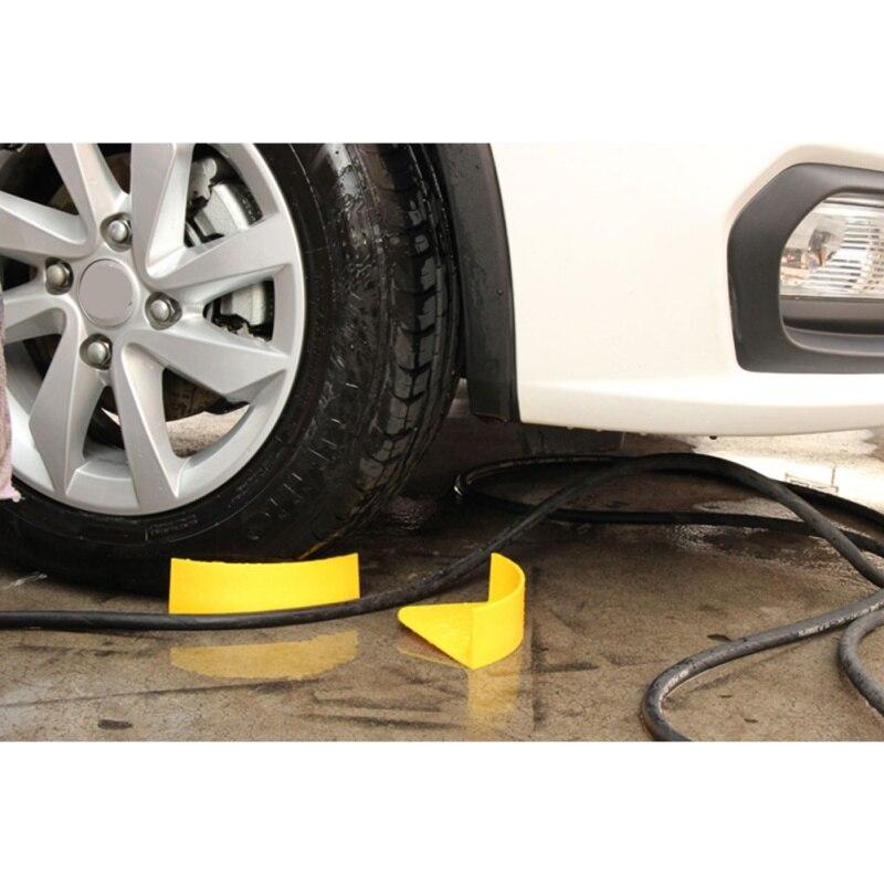 1Pcs Yellow Auto Detailing Car Wash Cleaning Tire Jam Eliminators Car Wash Insert Detail Tool