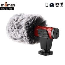 MAMEN 4 цвета видео Запись микрофон для DSLR камеры смартфона Osmo Pocket Youtube Vlogging Mic для iPhone Android DSLR Gimbal