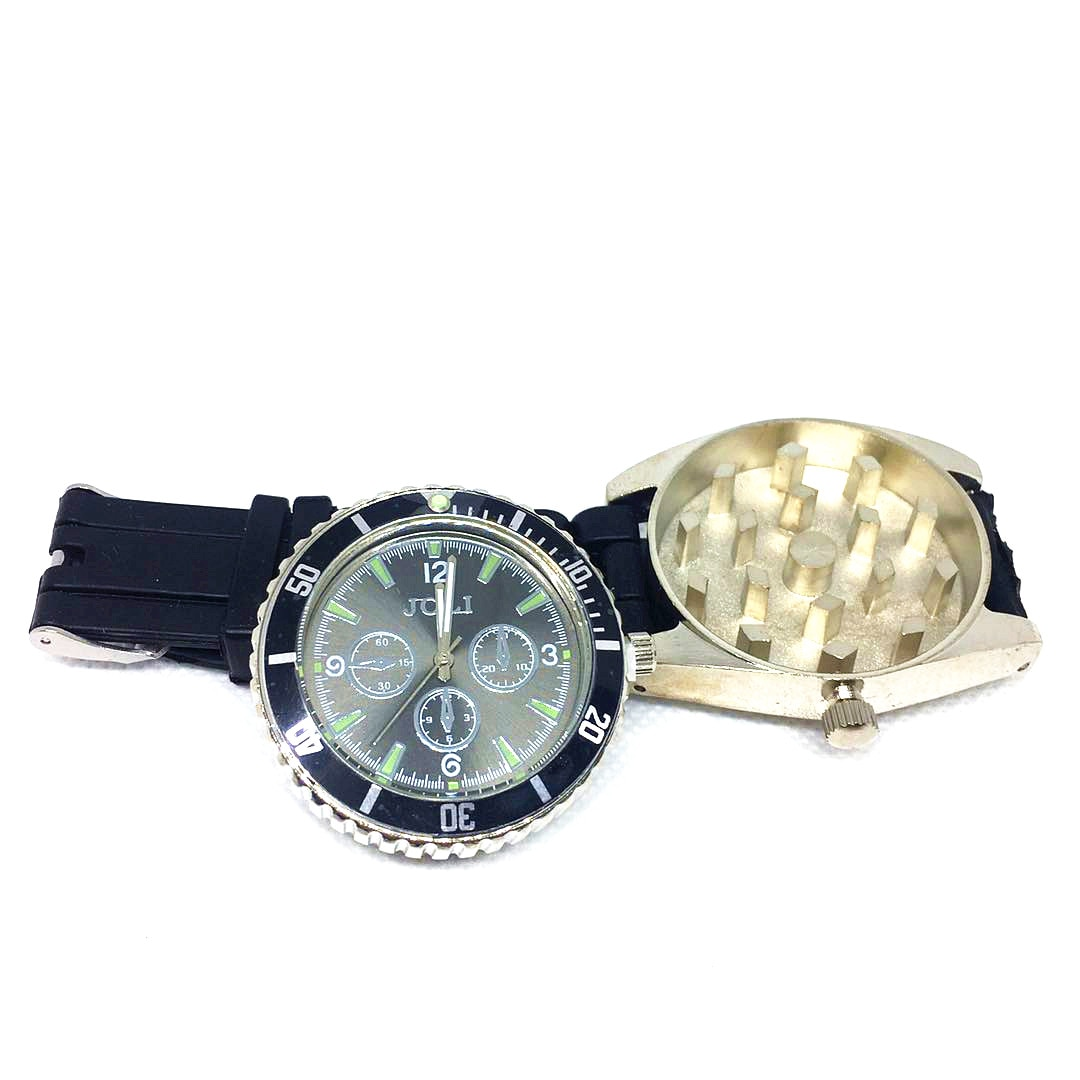 Wrist Watch Weed Herb Grinder Tobacco Smoke  Crusher Smoking Accessories Metal Zinc Alloy