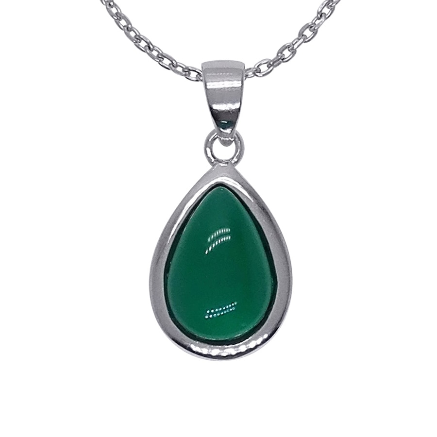 100% Guaranteed Real 925 Sterling Silver Pendants With Green Agate Stone notebook stone by stone a6 100 100