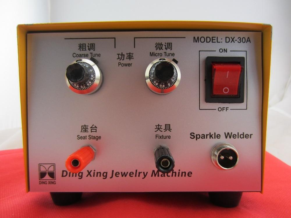 Soldador para joyería de 110 v, soldador portátil de metal plateado dorado, mini soldador de punto para joyería