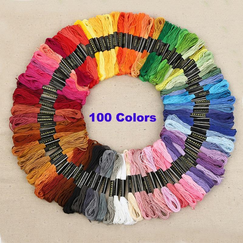 100 цветов нитки для вышивки крестом уникальный стиль DMC якорь вышивка крестиком хлопок вышивка крестиком вышивка нить для шитья