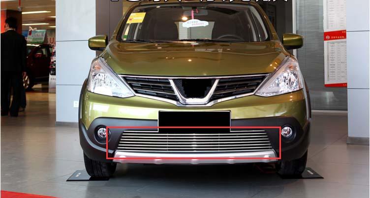 Rejilla frontal de aluminio para rejilla de malla de nido de abeja para Nissan Livina 2013-2015