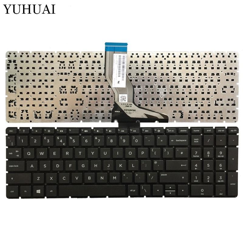 Uk preto teclado do portátil para hp 250 g6 255 g6 256 g6 258 g6 TPN-C129 TPN-C130 com palmrest capa superior sem toque