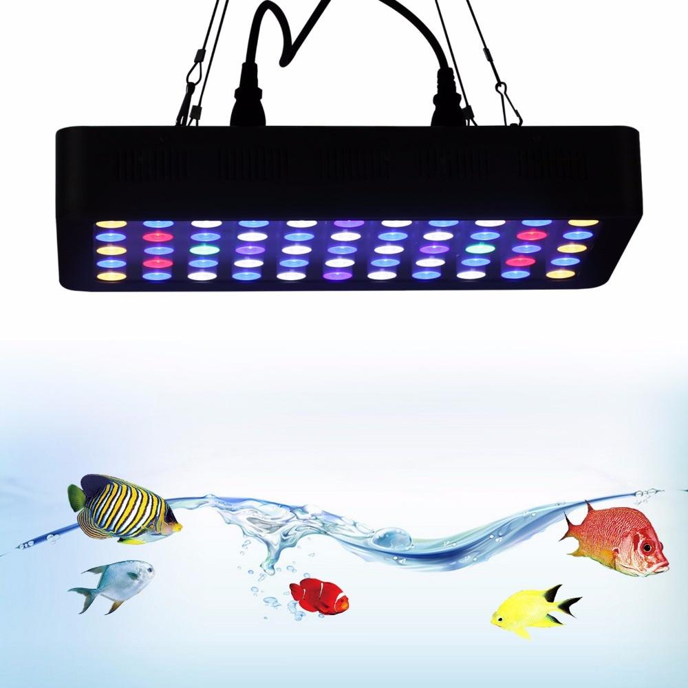 LED Light Dimmable 165W LED Aquarium Light Full Spectrum Reef Coral Marine Plant Light Coral Growth Fish Tank LED Lamp Lighting saltwater resistant 5w led aquarium fish tank clamp clip lamp lighting with full spectrum for coral reef spot light e27 lamp