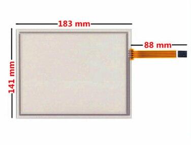 183*141 nuevo 8 pulgadas 4 resistencia de alambre de pantalla táctil EJ080NA-05B para pantalla de navegación GPS industrial pantalla