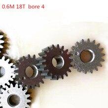 10pcs Motor Gear Metal Gears Mini Pinion 18T Teeth Modulus 0.6 metal gear for RC Model Connector