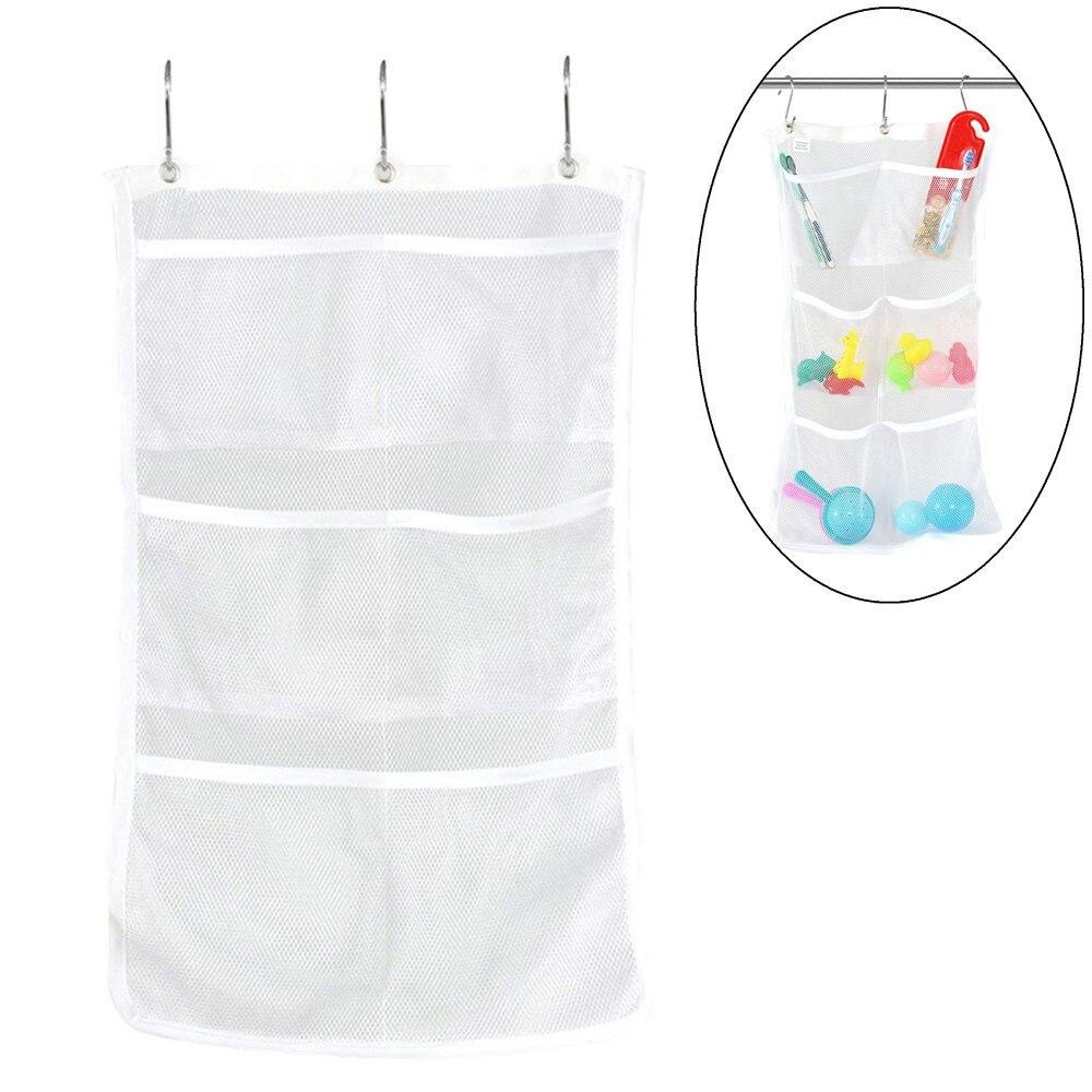 2020 новая сумка для хранения в ванную ванну для душа для ванной подвесной сетчатый Органайзер Caddy сумка для хранения белый