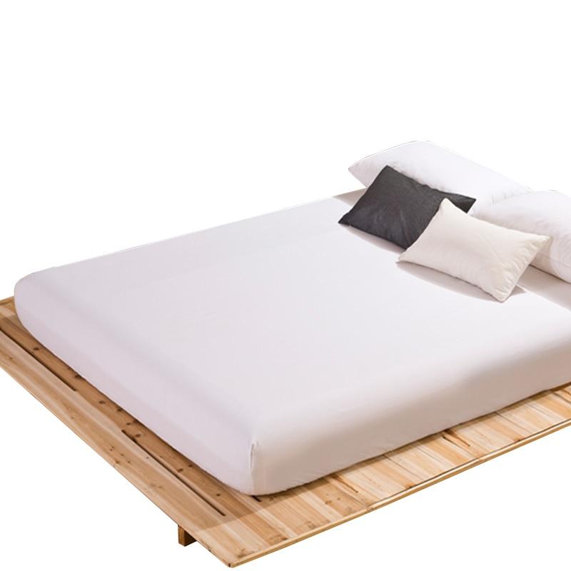 Sábana ajustable, Funda de colchón, Color sólido, lijado, ropa de cama, sábanas con banda elástica, Sábana doble tamaño Queen 61