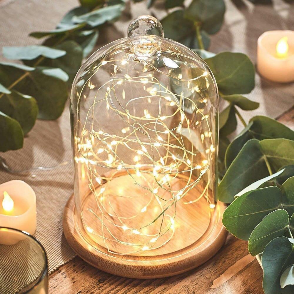 Cubierta de vidrio de flor eterna, hecha a mano, vela de aromaterapia, cubierta de polvo, cubierta para regalo de amor
