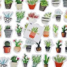 45 pièces/lot Cactus Mini papier autocollant décoration bricolage Ablum journal Scrapbooking étiquette autocollant Kawaii papeterie