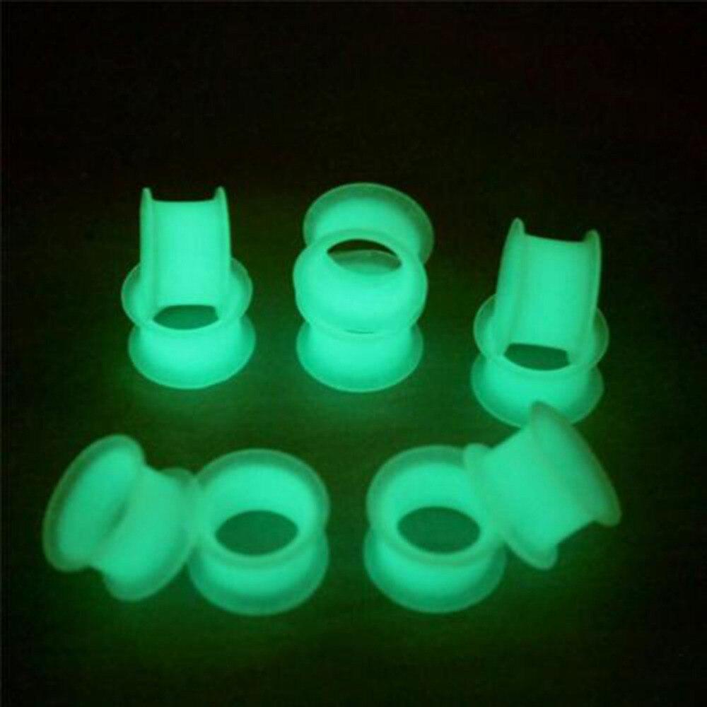 ¡Oferta! Tapones para los oídos y túneles Dark Drum expansión para oreja Piercing del cuerpo defensor de la oreja