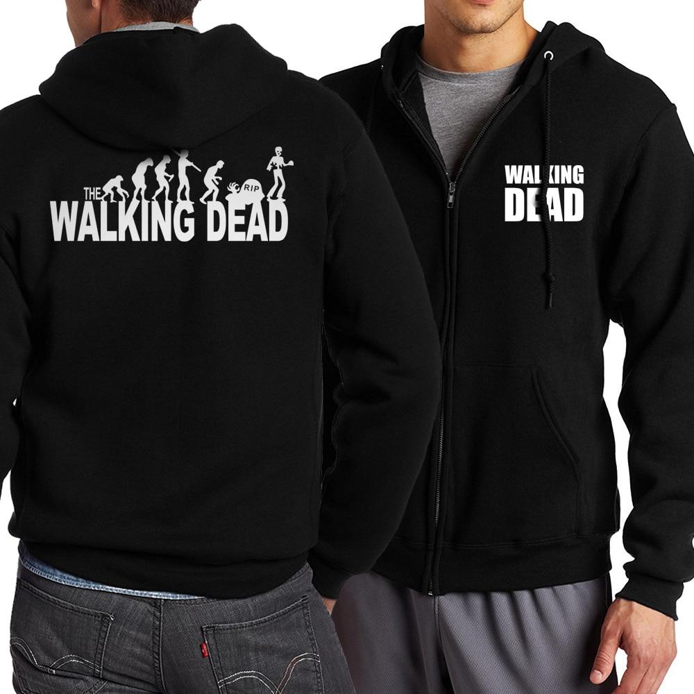 Sudadera con capucha The Walking Dead 2019 para hombre, sudadera a la moda para primavera y otoño, sudadera para hombre con cremallera, chándales, ropa deportiva para hombre, Sudadera con capucha Harajuku