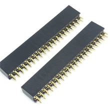10 Uds 2,54mm 2x20 40-Pin hembra Pin conector de cabeza