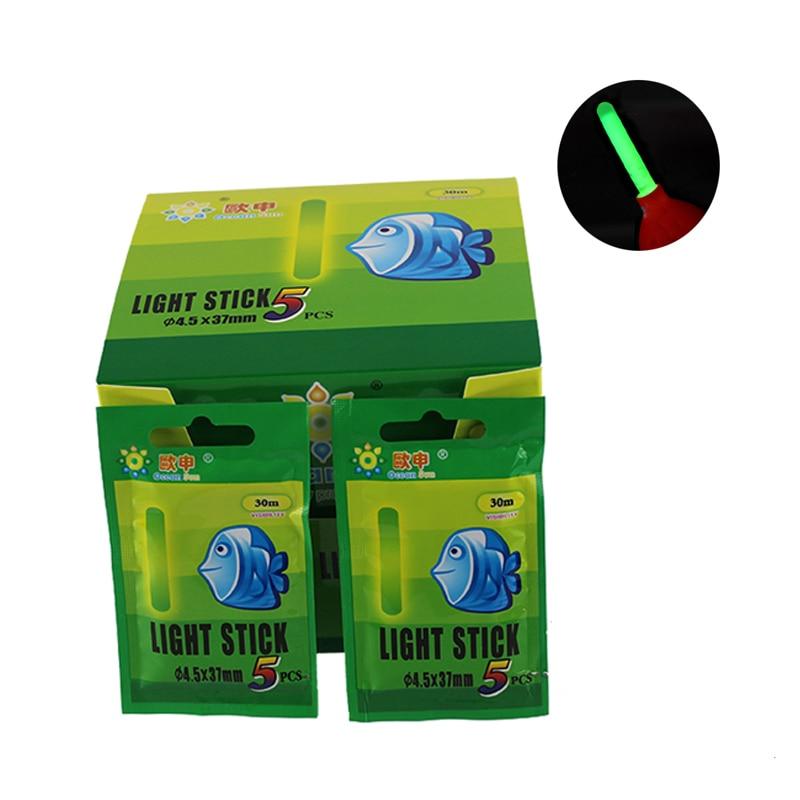 5/25 Uds pesca Glow Stick Visual 30m pesca Float Varita luminosa fluorescente luz luces de barra flotante de noche de pesca FO321