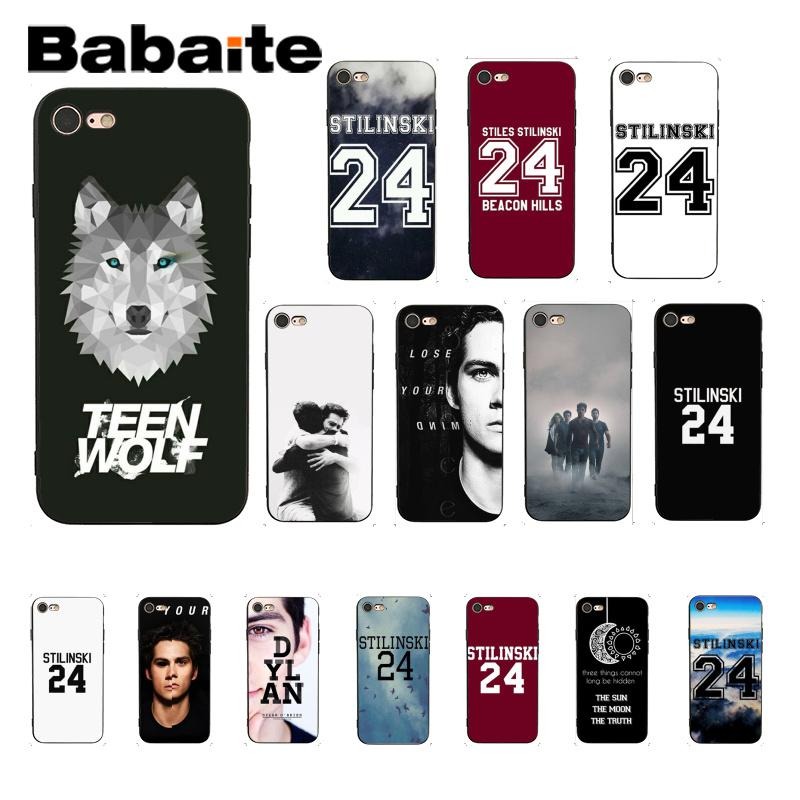 Funda de teléfono con estampado DIY de Babaite Stilinski 24 Teen Wolf para iPhone 8 7 6 6S Plus X XS MAX 5 5S SE XR, Fundas Capa