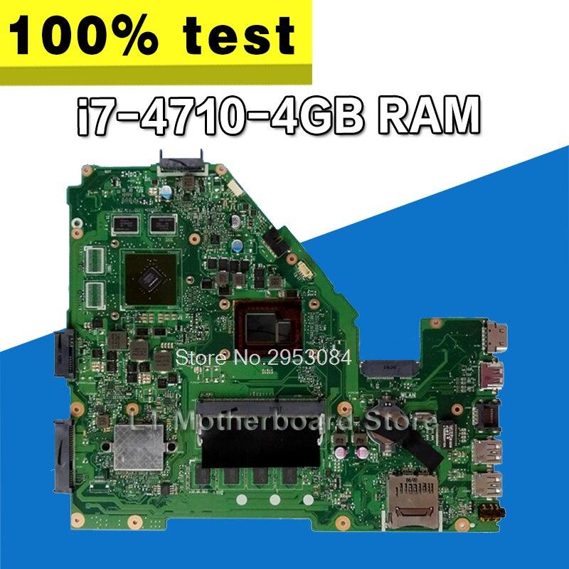 X550JD i7-4710HQ/4GB GTX820 para For Asus X550JK X550JD ZX50J X550J A550J FX50J FX50J placa base de computadora portátil original placa madre prueba OK