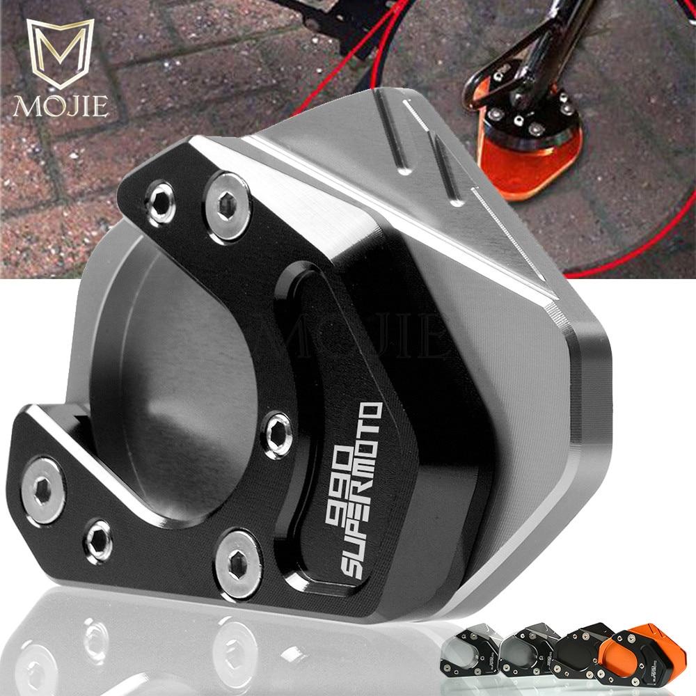 Para KTM 990 Supermoto R 2009, 2010, 2011, 2012, 2013 soporte Sidestand de la motocicleta soporte extensión de caballete de ampliadora