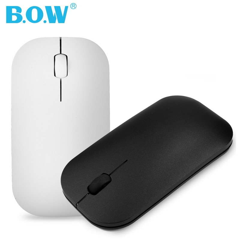 B.O.W 2.4Ghz Wireless Mouse Small,  Ultra-thin and Slim Silent Rechargeable Optical Mice USB, Light to Carry or Relax your Hand
