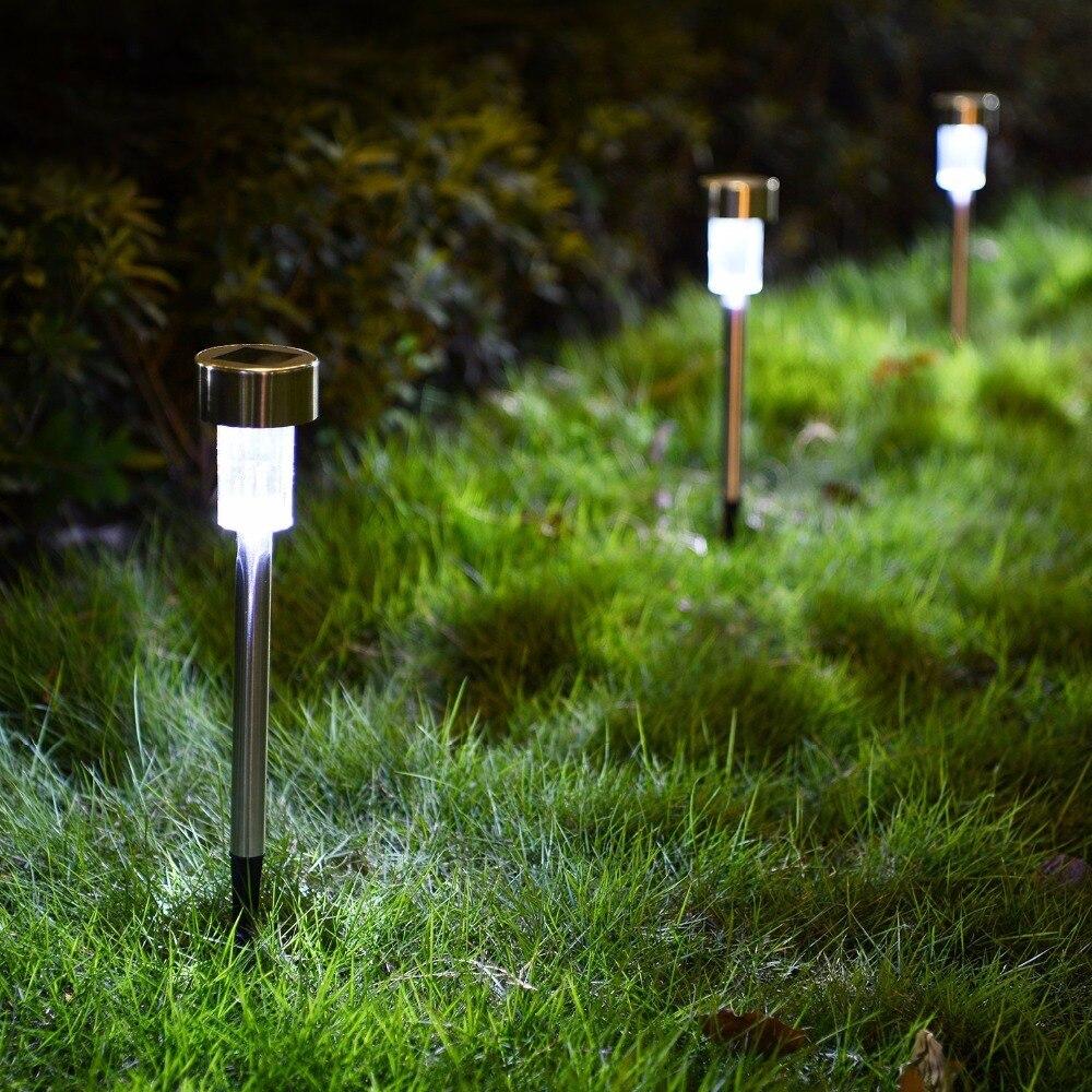 12Pcs Solar Garden Light Outdoor Solar Power Lantern Waterpoof Landscape Decoration Lighting For Pathway Yard Lawn Sunpower Lamp enlarge