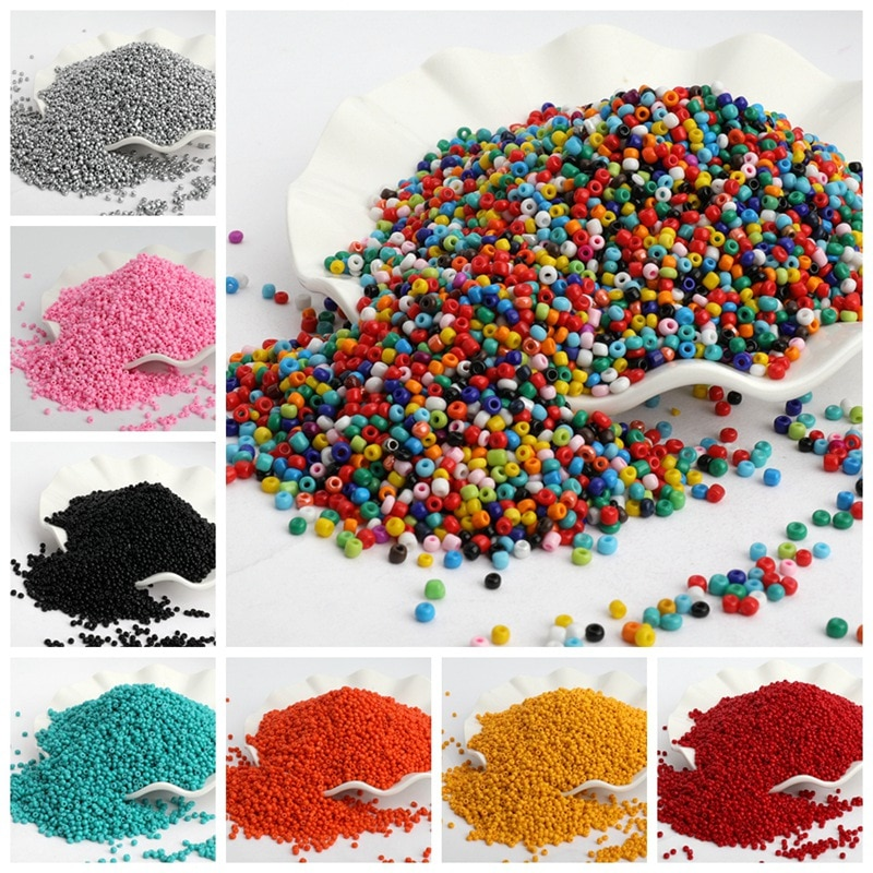 500pcs/lot 3mm Solid Color Czech Glass Seed Spacer Beads Austria Crystal Round Hole Beads For Kids J