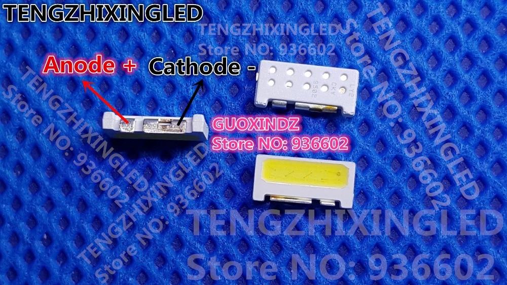 Para SAMSUNG LED retroiluminación LCD aplicación de TV de retroiluminación LED borde serie LED 2W 9V 9V 7032 blanco SVTE7032P3-GW