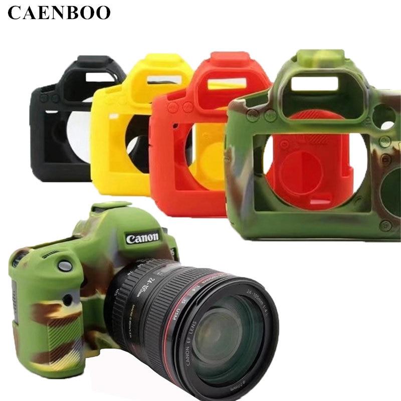 Чехол для Камеры CAENBOO 6D 70D 60D, защитный чехол из мягкого силикона и резины для Canon EOS 6D, камуфляжный, черный, красный