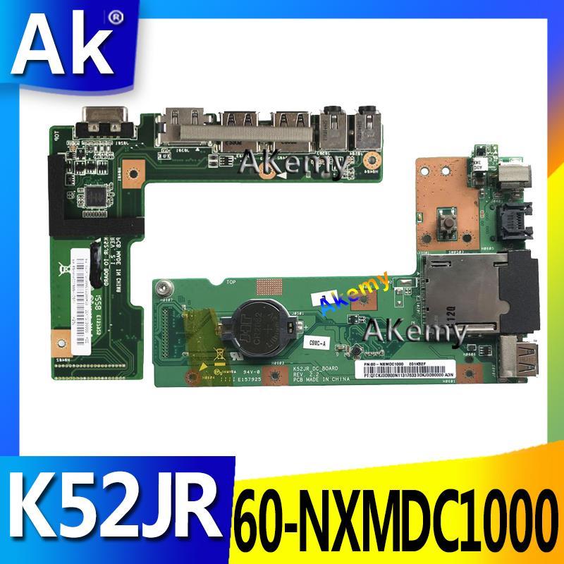 Ak originfor asus k52 k52j k52jr k52jc k52dr x52f k52f x52j dc power jack placa de áudio 60-nxmdc1000 100% testado navio rápido