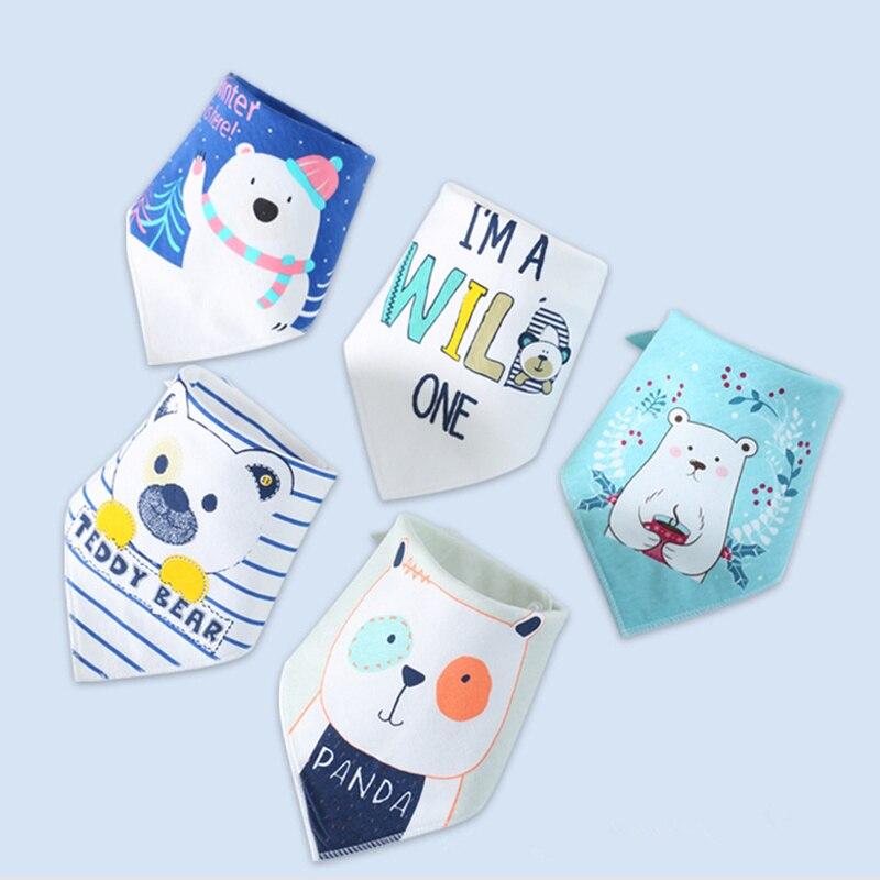 Baberos de bebé para niño, pañuelo para niña, babero, babero, estampado de tela, Animal triangular, bufanda de algodón para bebé, Collar de comida, eructo, accesorios para bebés
