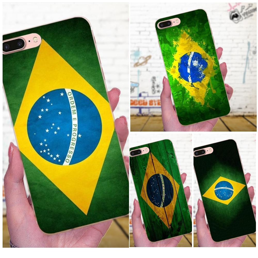Suave TPU teléfono móvil transparente para LG Nexus 5 5X G2 G3 mini espíritu G4 G5 G6 K4 K7 K8 K10 2017 V10 V20 V30 Stylus bandera de Brasil