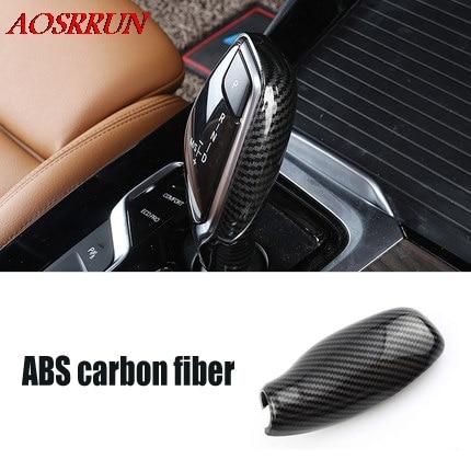 Perilla de cambio de velocidad automática Cubierta de fibra de carbono accesorios de coche para BMW x3 g01 2017 2018 2019