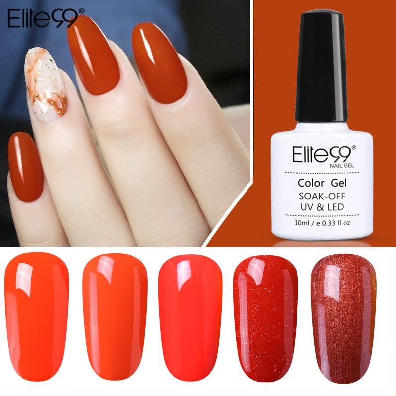 Elite99-esmalte de uñas en Gel UV LED, para decoración de uñas, barniz de Gel semipermanente de larga duración, 10ML, 1-10 colores