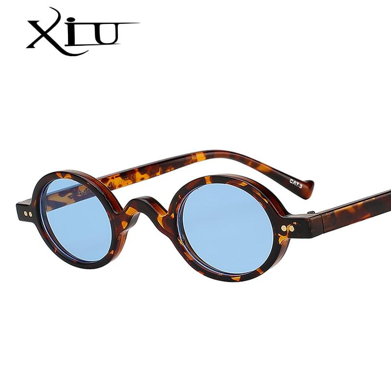 XIU Small Round Vintage Sunglasses Women Brand Design Fashion Lenon Top Quality Fashion Glasses Men Oculos UV400